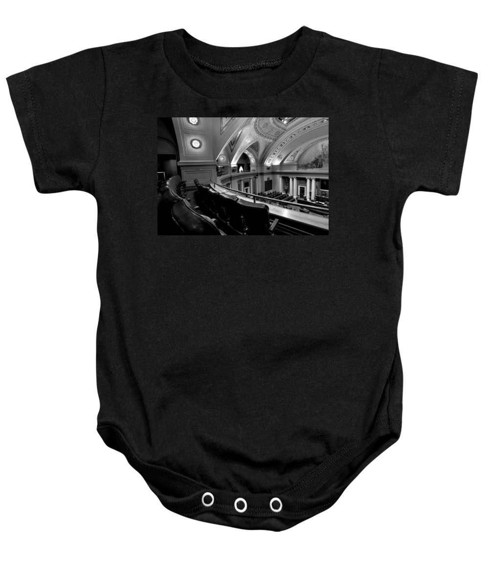 Minnesota State Capitol Baby Onesie featuring the photograph House Gallery by Amanda Stadther