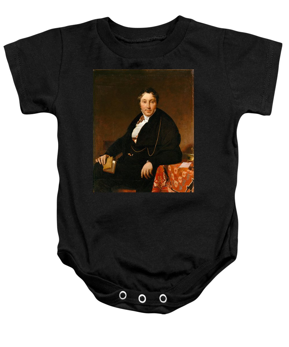 Jean Auguste Dominique Ingres Baby Onesie featuring the painting Jacques-louis Leblanc by Jean Auguste Dominique Ingres
