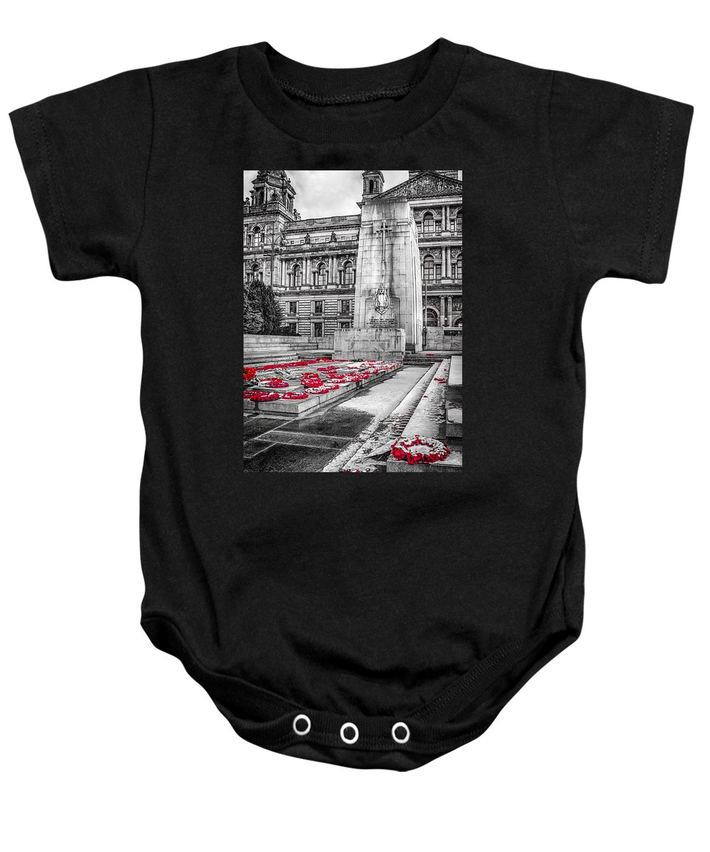 Cenotaph Baby Onesie featuring the photograph Lest We Forget by Gareth Burge Photography