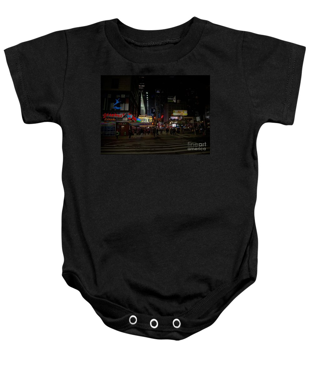 Neon Signs Baby Onesie featuring the digital art Mama Mia by Carol Ailles