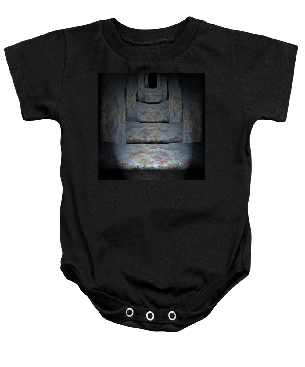 Megaliths Baby Onesie featuring the painting Megaliths by Christopher Gaston