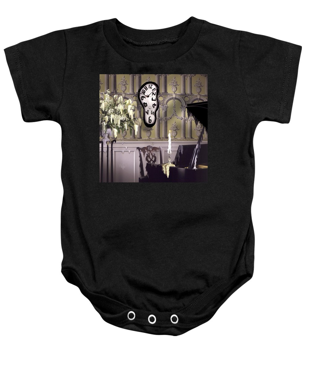 Surrealism Baby Onesie featuring the photograph Meltdown II by Mike McGlothlen