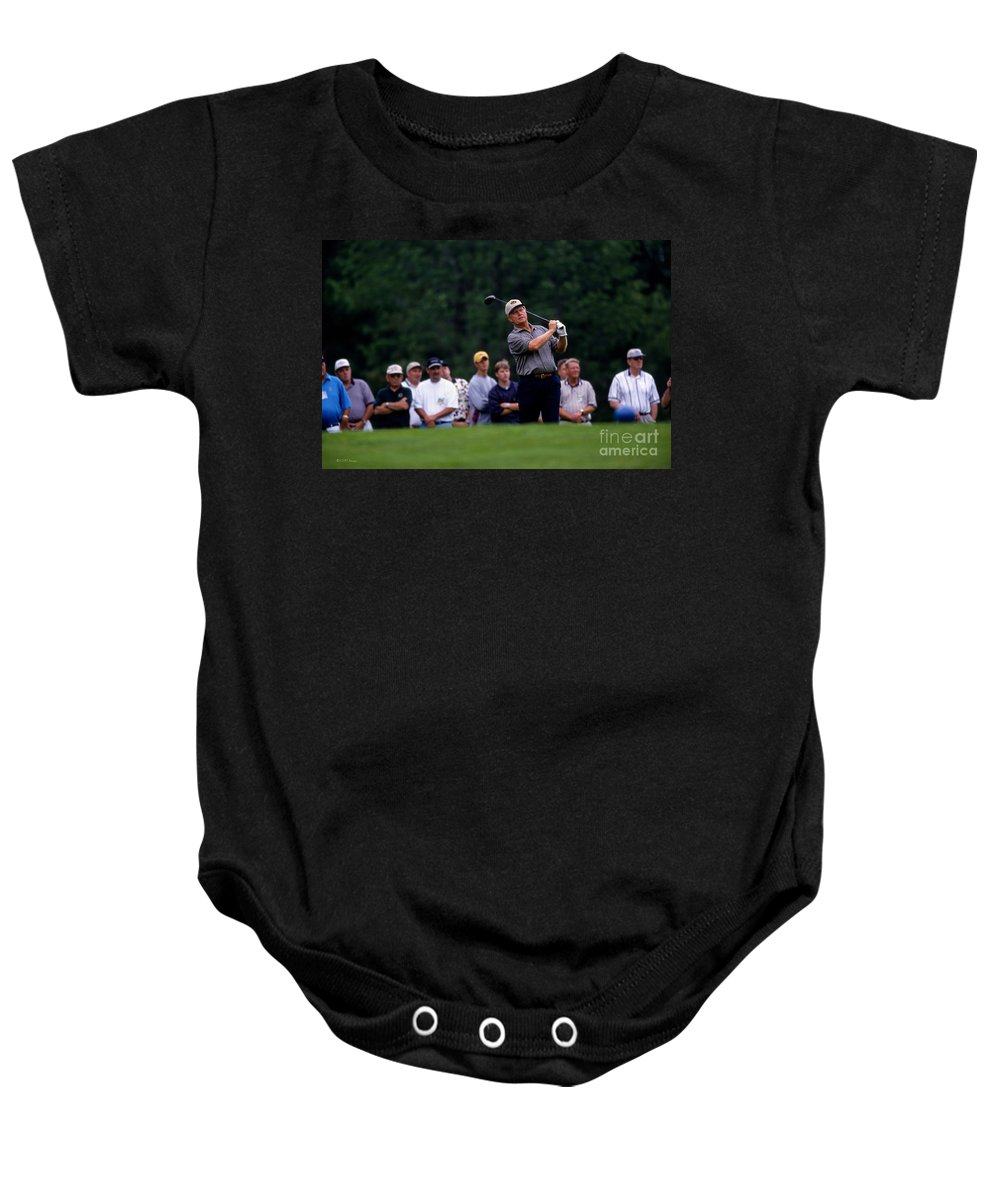 Memorial Tournament Baby Onesie featuring the photograph 12w334 Jack Nicklaus At The Memorial Tournament Photo by Ohio Stock Photography