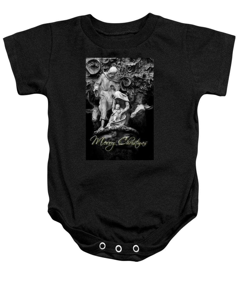 Merry Christmas Baby Onesie featuring the photograph Merry Christmas by U Schade