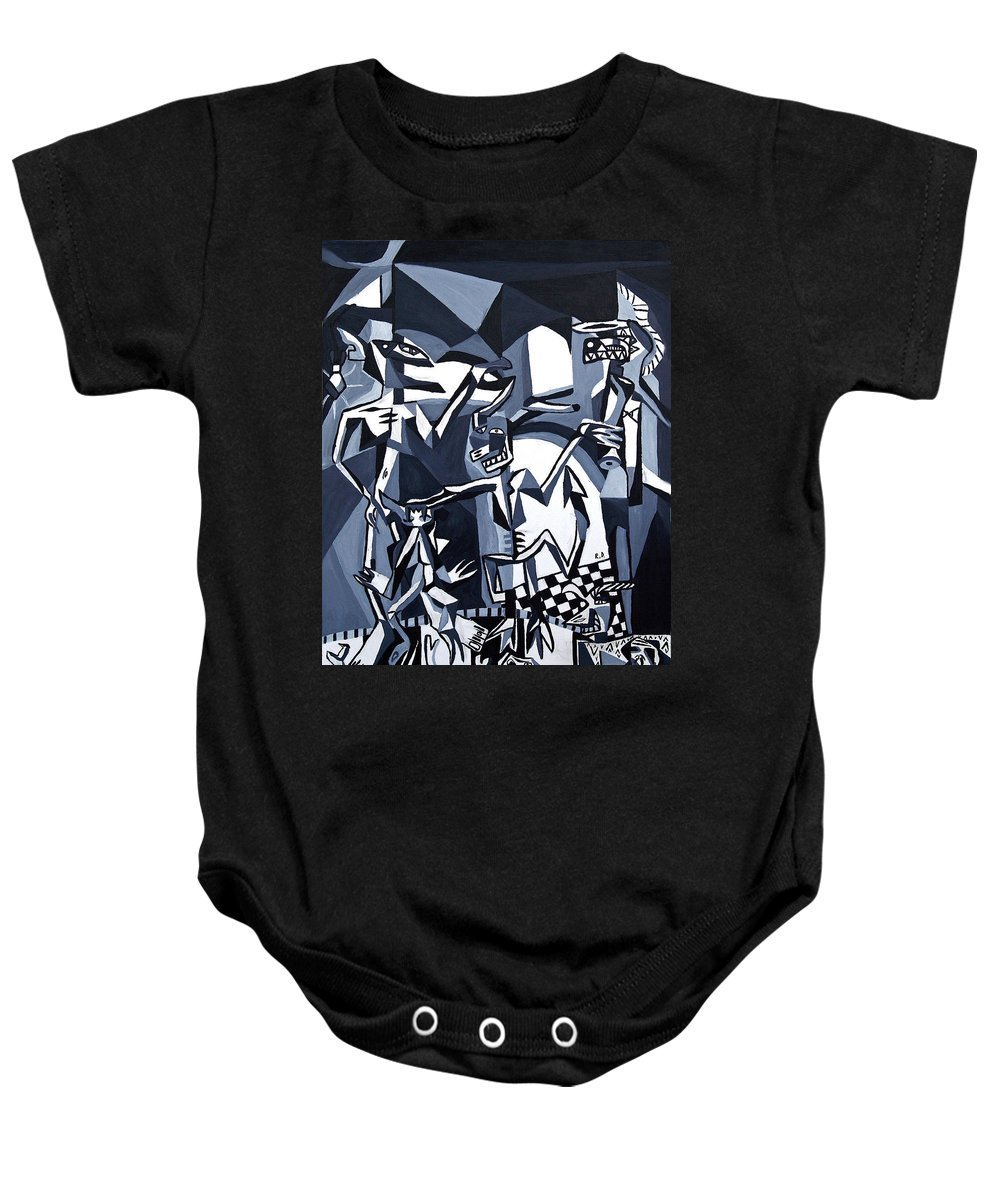 Abstract Baby Onesie featuring the painting My Inner Demons by Ryan Demaree