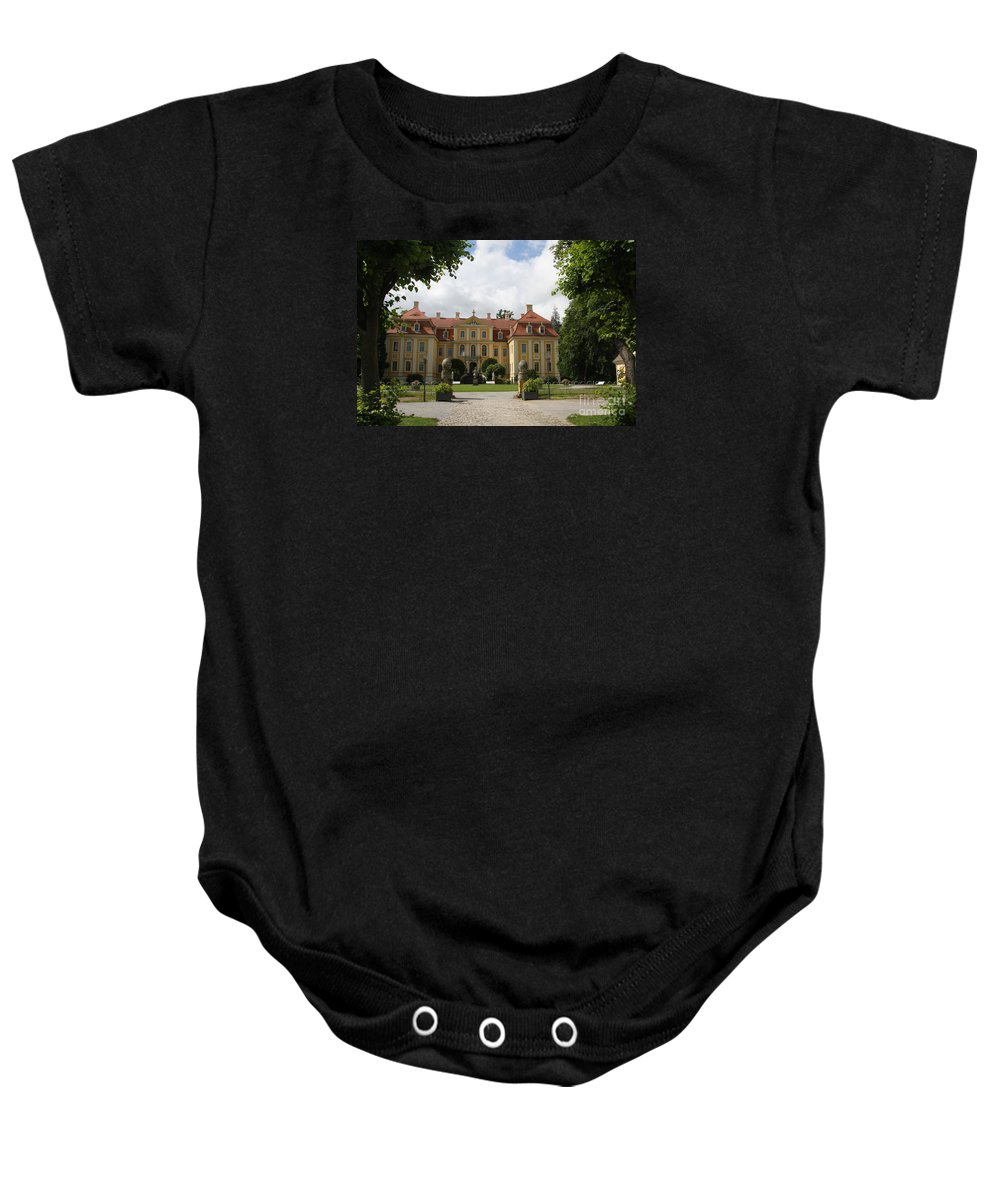 Palace Baby Onesie featuring the photograph Palace Rammenau - Germany by Christiane Schulze Art And Photography