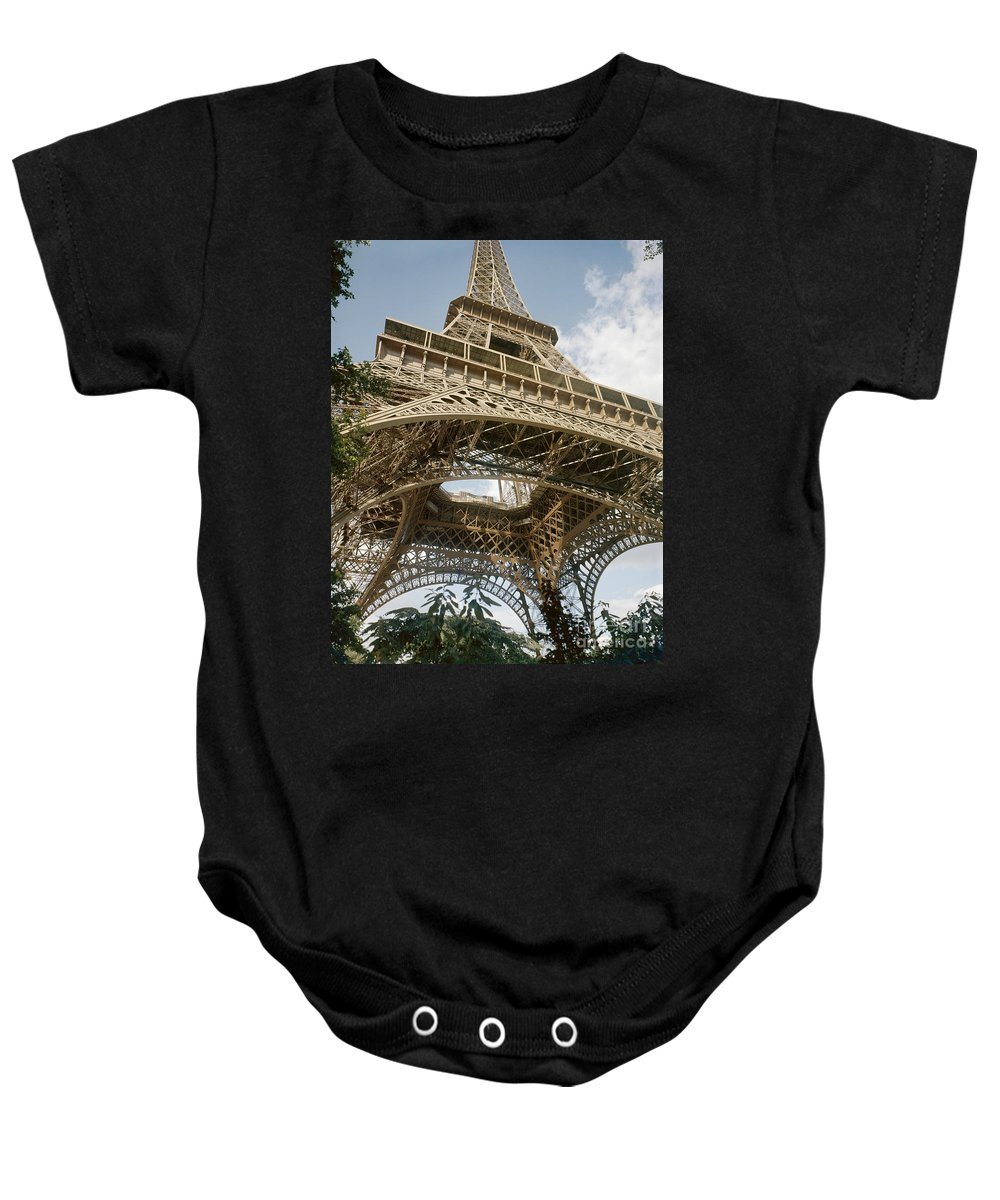 20th Century Baby Onesie featuring the photograph Paris: Eiffel Tower by Granger