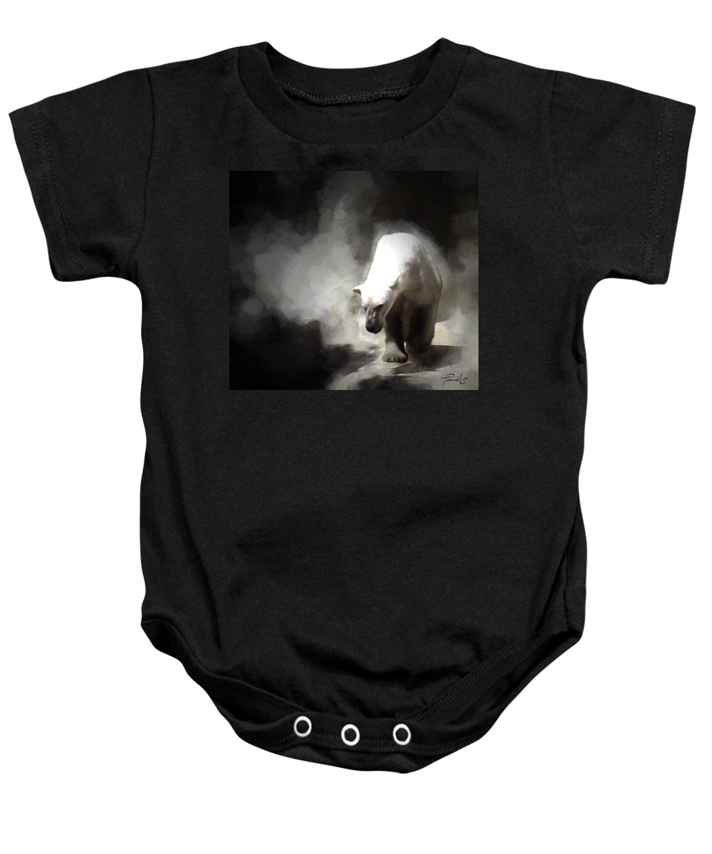 Polar Baby Onesie featuring the digital art Polar Bear by Patti Parish