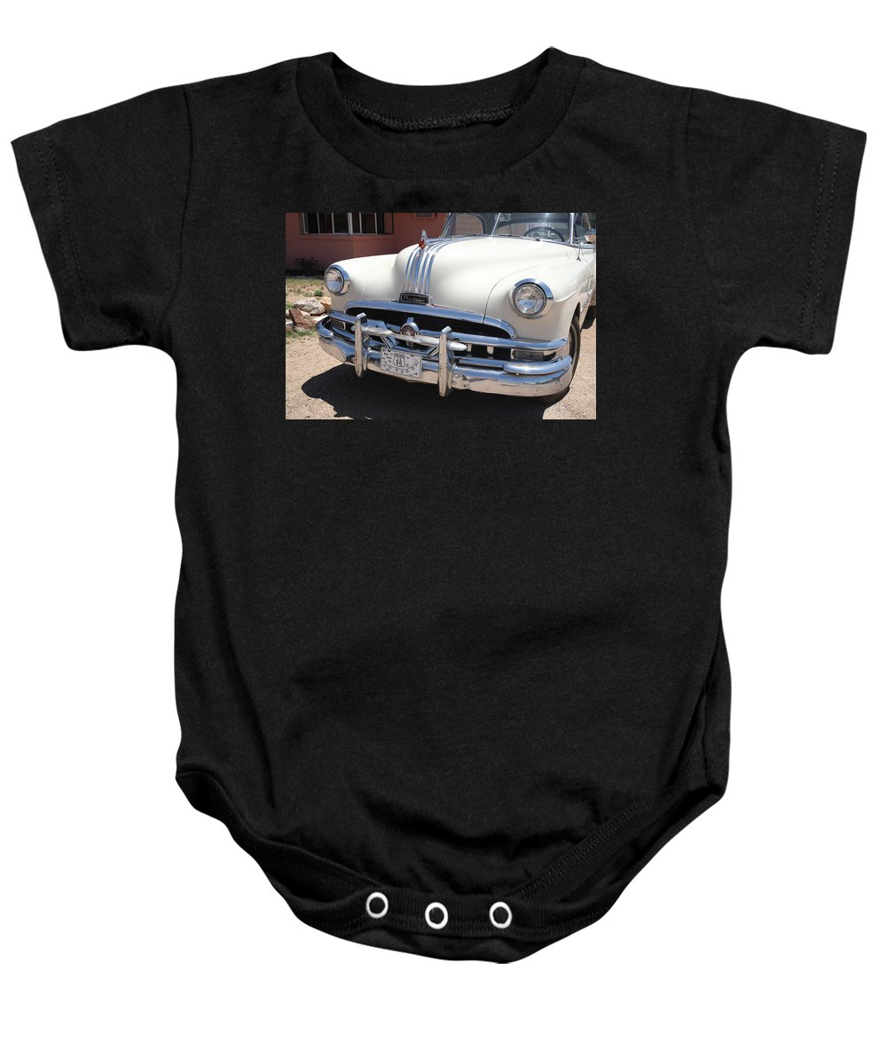 66 Baby Onesie featuring the photograph Route 66 - Classic Car by Frank Romeo