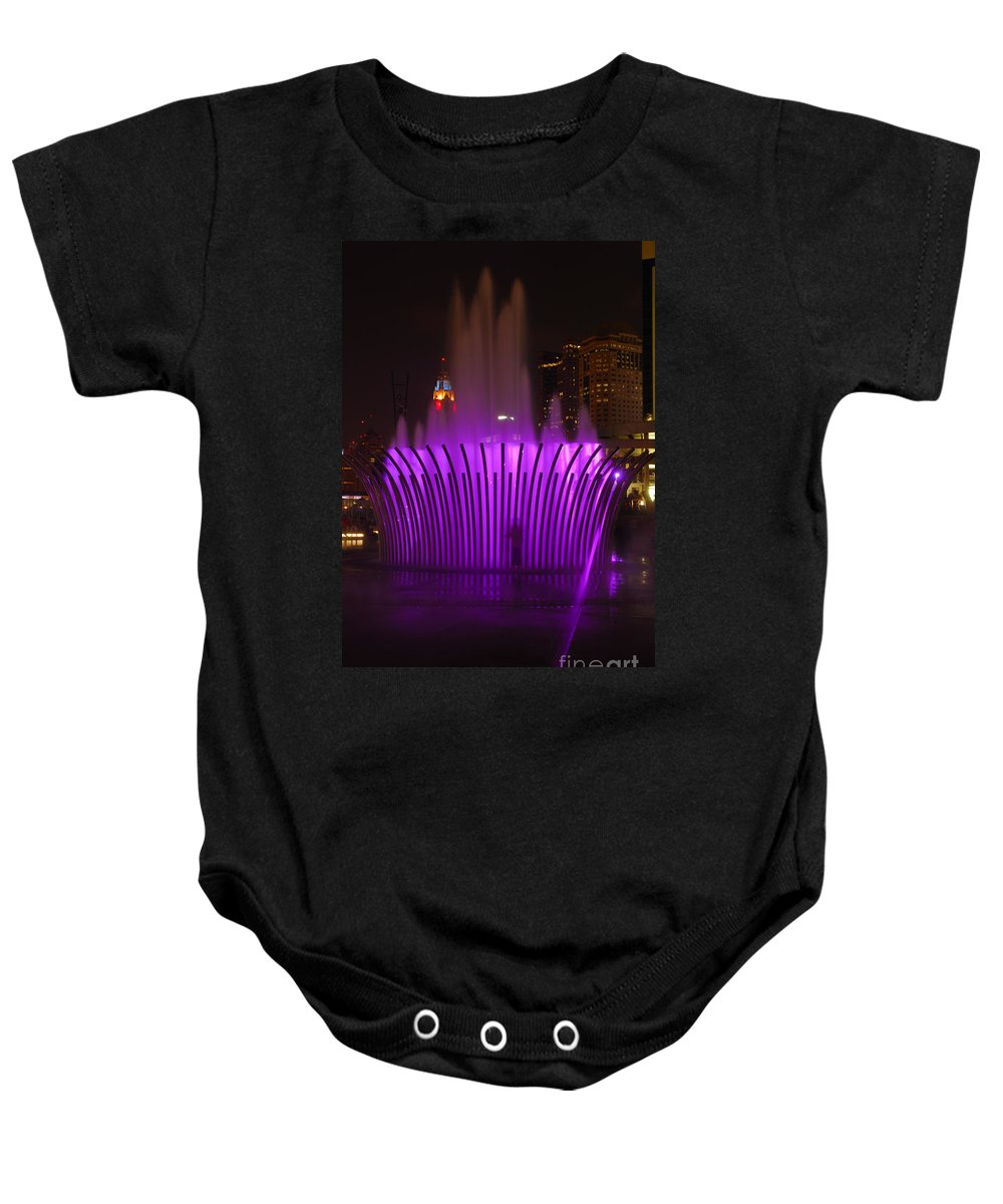 Scioto Mile Baby Onesie featuring the photograph D101l-11 Scioto Mile Riverfront Park Photo by Ohio Stock Photography