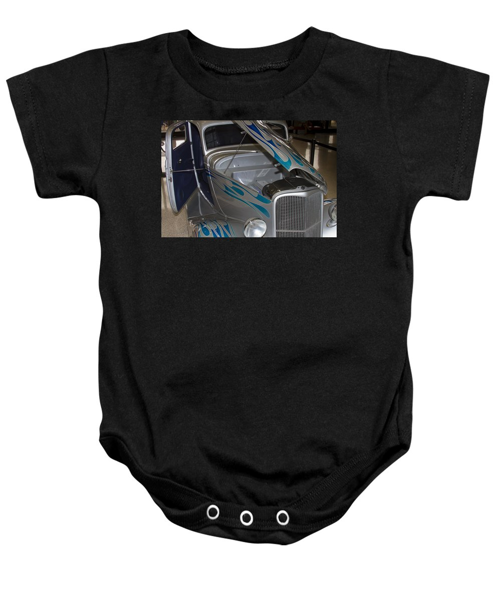 American Baby Onesie featuring the photograph Silver Flame by Jack R Perry