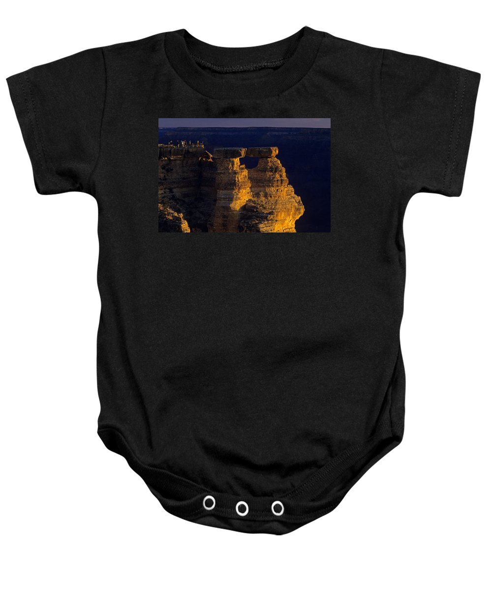 Grand Canyon National Park Baby Onesie featuring the photograph South Rim Grand Canyon Taken Near Mather Point Sunrise Light On by Jim Corwin
