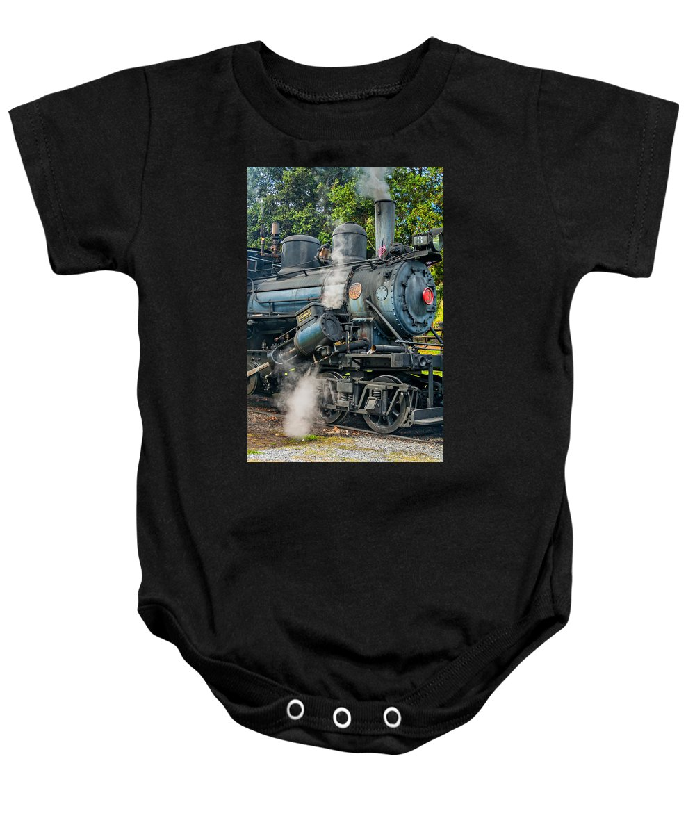 Baby Onesie featuring the photograph Steam Power by Steve Harrington