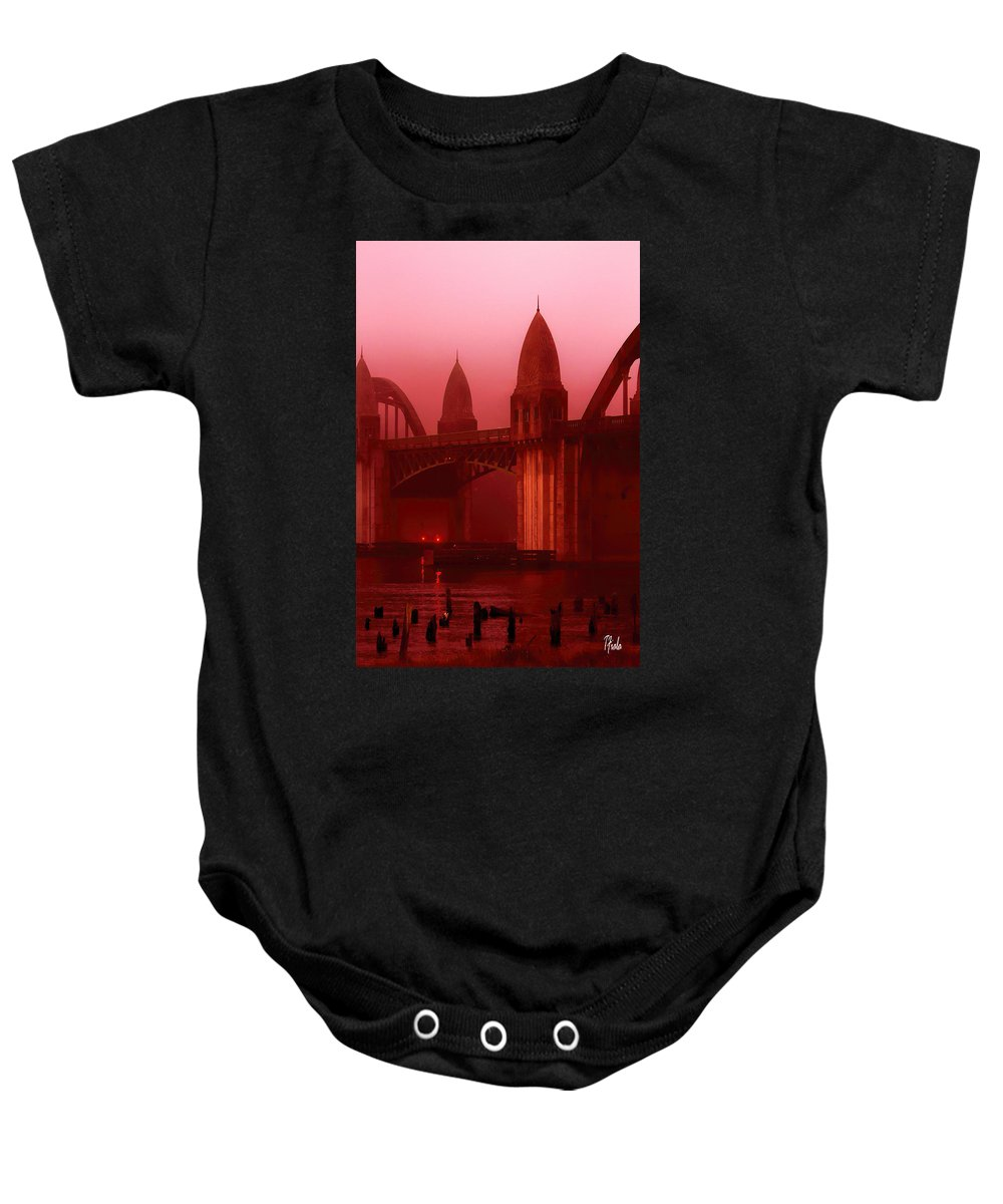 Baby Onesie featuring the photograph Sunrise On The River by Terry Fiala