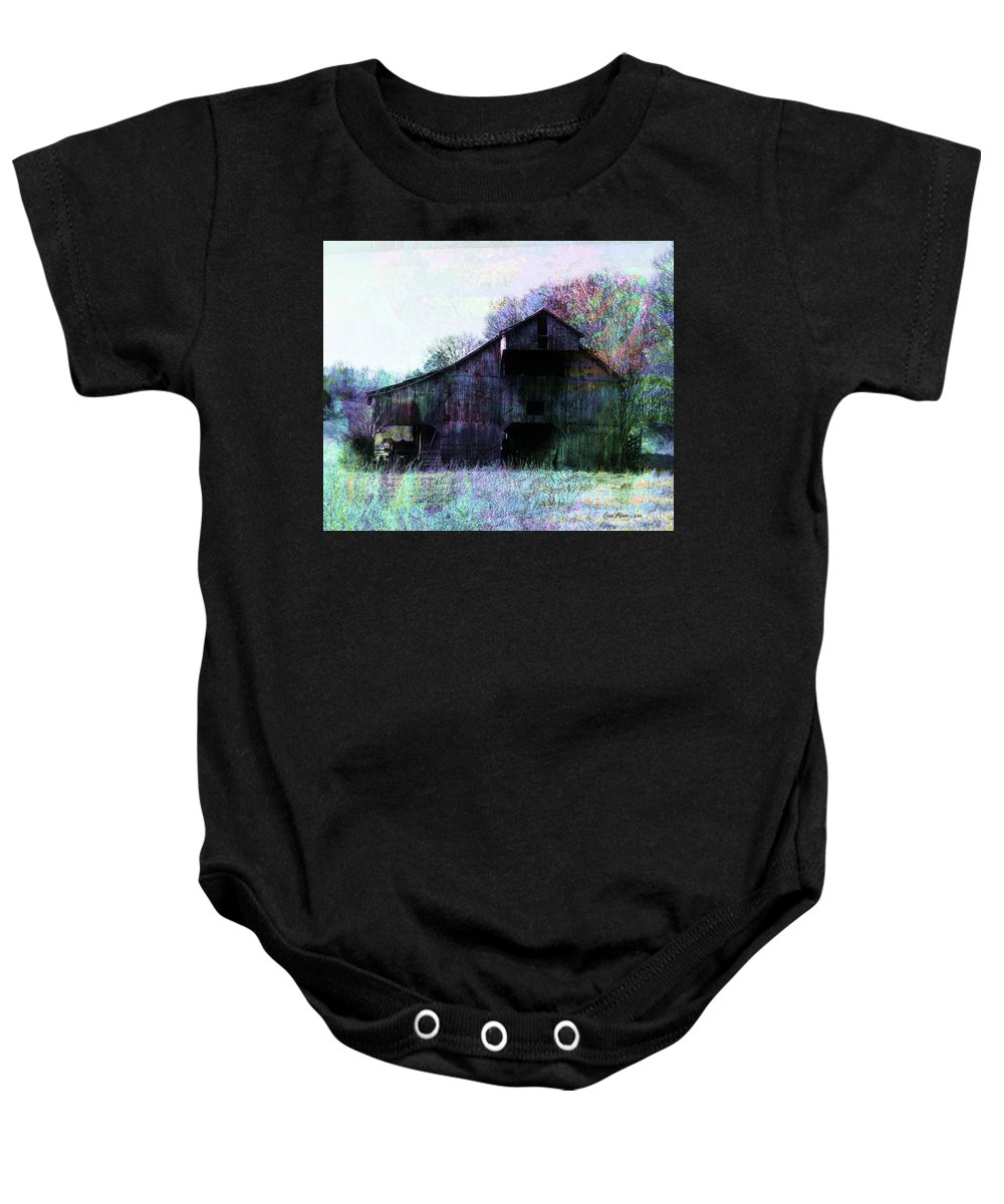Barn Baby Onesie featuring the photograph The Old Barn by Ericamaxine Price