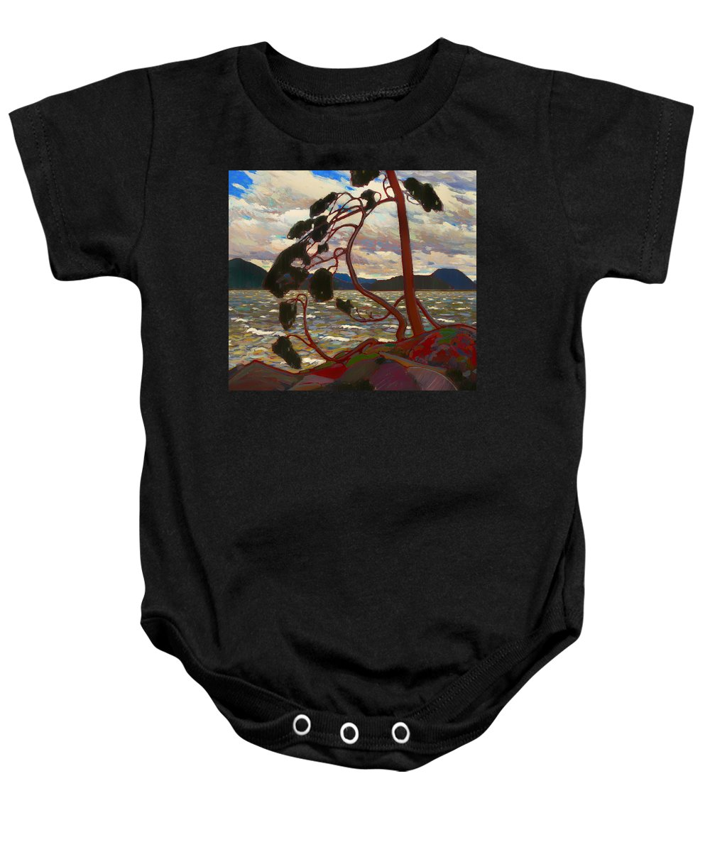 Painting Baby Onesie featuring the painting The West Wind by Mountain Dreams