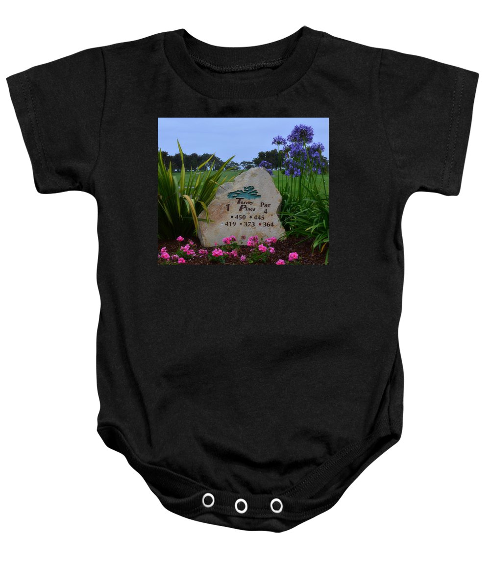 Torrey Pines Golf Course Baby Onesie featuring the photograph Torrey Pines South by See My Photos