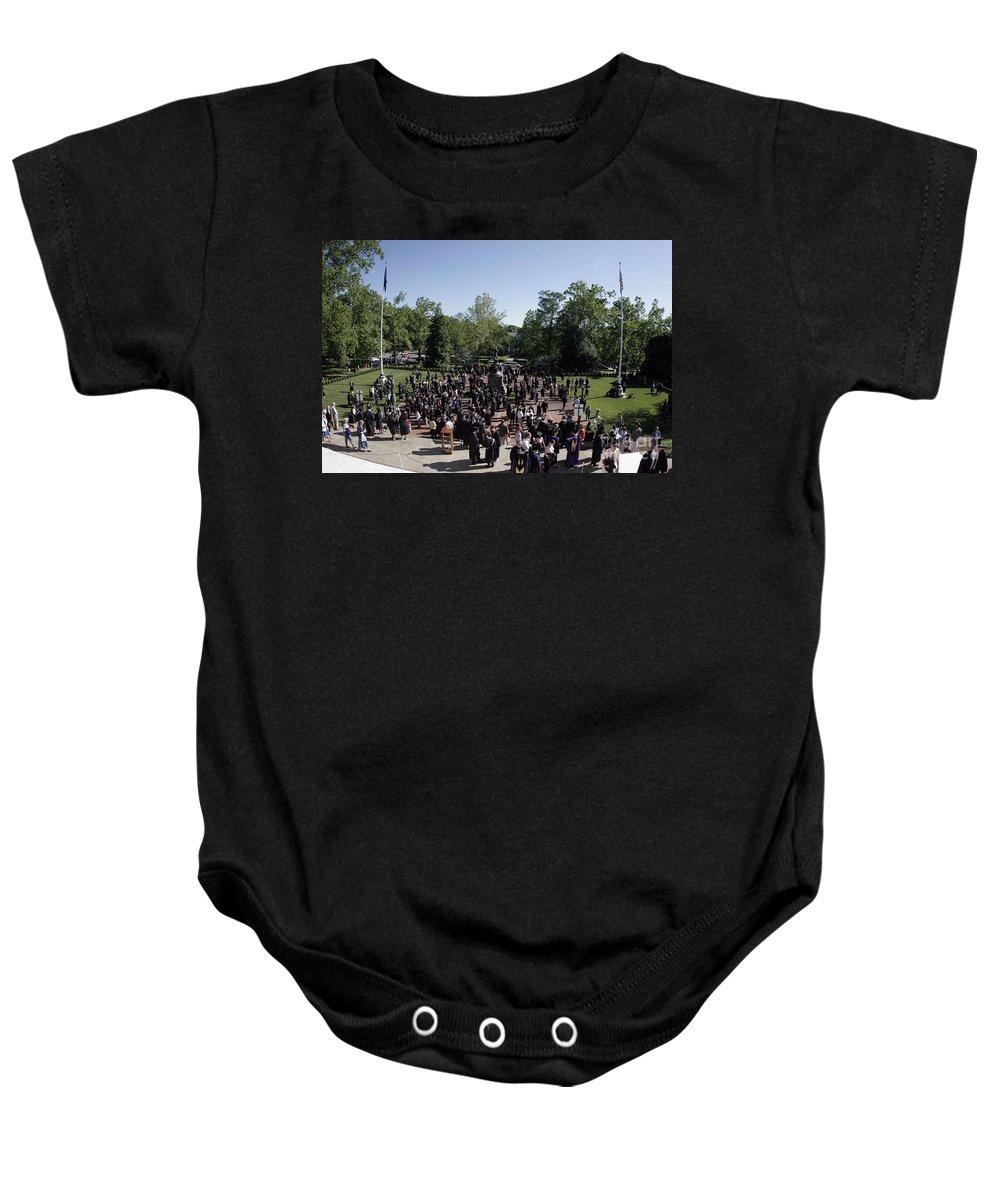 University Of Virginia Baby Onesie featuring the photograph University Of Virginia Graduation by Jason O Watson