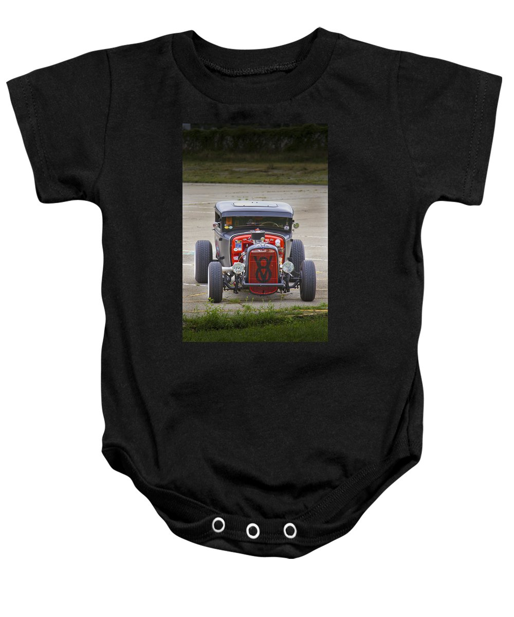 American Baby Onesie featuring the photograph V8 by Jack R Perry