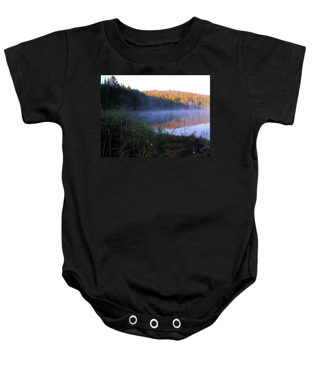 Pond Baby Onesie featuring the photograph Vermont Pond by Sherman Perry
