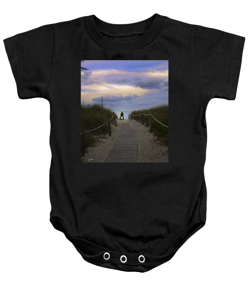 Person Baby Onesie featuring the photograph Waiting by Madeline Ellis