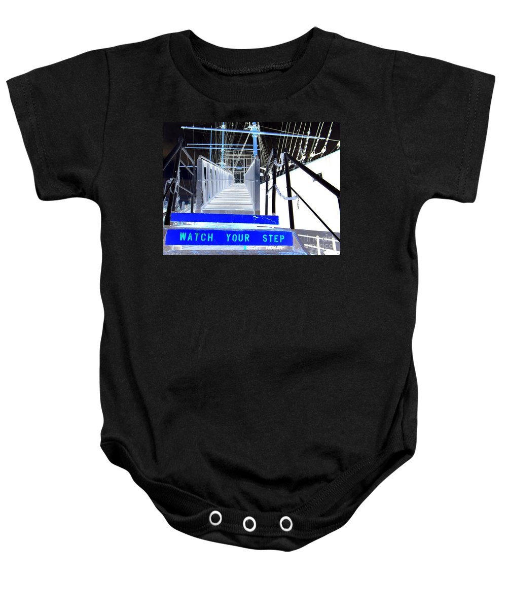 Pop Art Baby Onesie featuring the photograph Watch Your Step by Ed Weidman