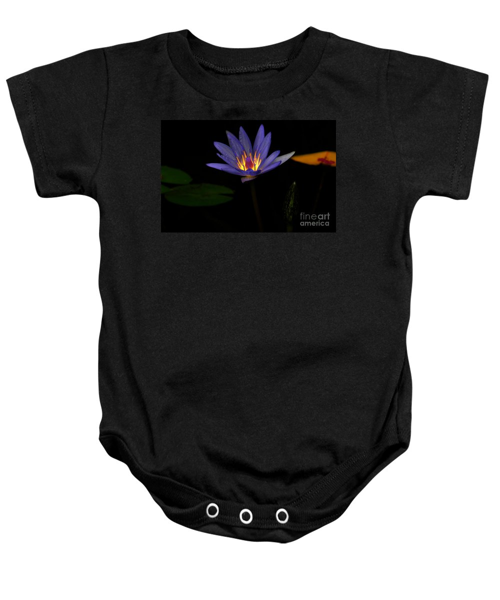 Lily Baby Onesie featuring the photograph Lotus Bloom 2 by Mike Nellums
