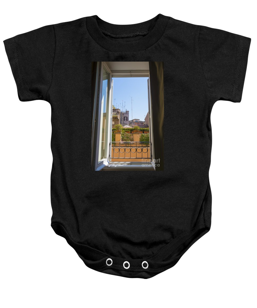 Window Baby Onesie featuring the photograph Window View by Mats Silvan