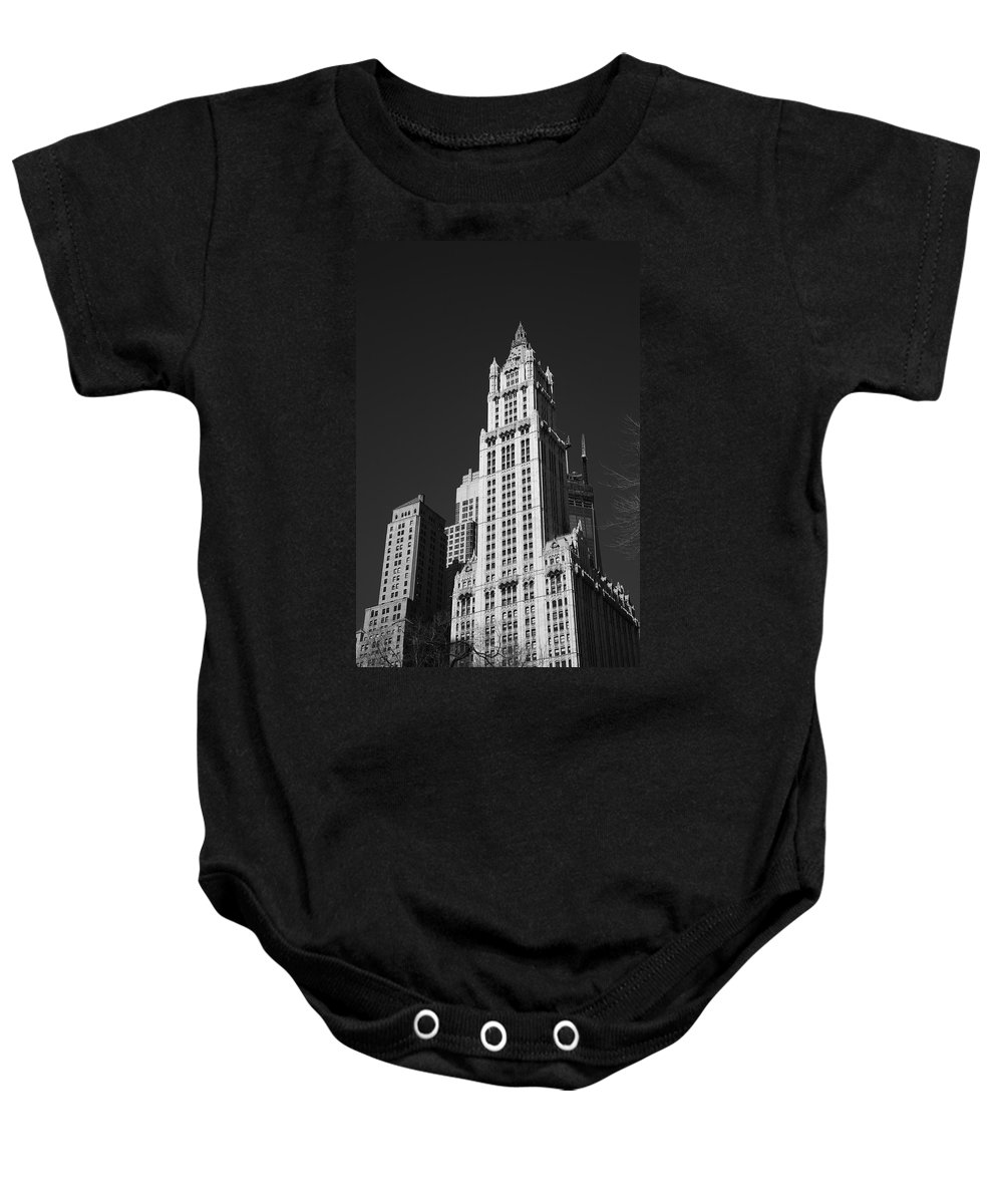 America Baby Onesie featuring the photograph Woolworth Building by Frank Romeo
