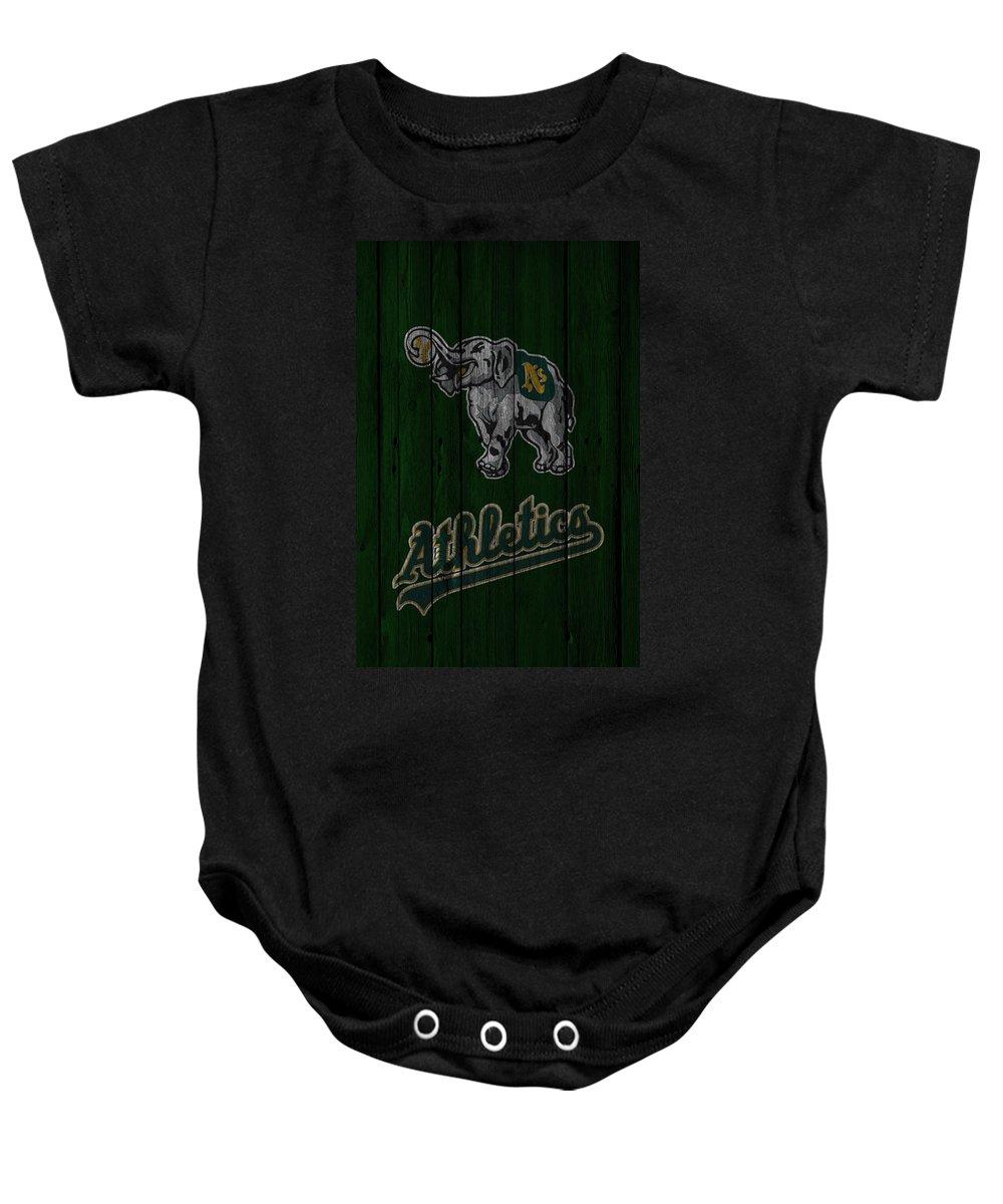 Athletics Baby Onesie featuring the photograph Oakland Athletics by Joe Hamilton