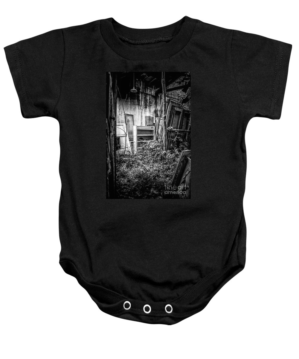 Abandoned Baby Onesie featuring the photograph Abandoned Sanatorium by Traven Milovich