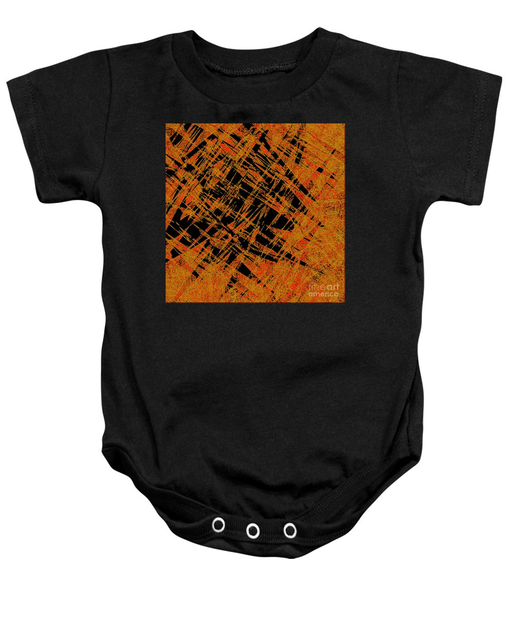 Abstract Baby Onesie featuring the digital art 1126 Abstract Thought by Chowdary V Arikatla