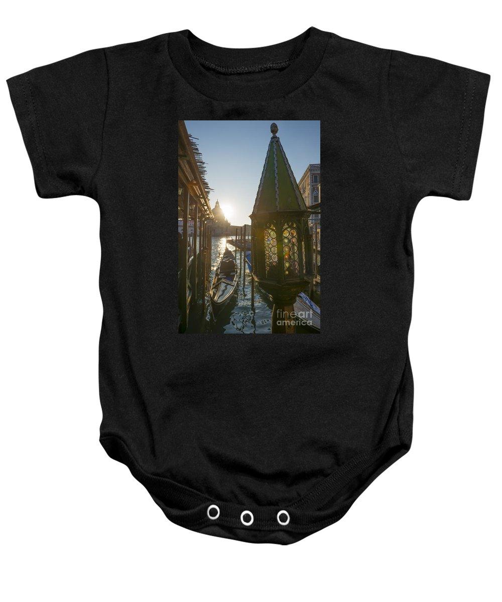 Gondola Baby Onesie featuring the photograph Gondola by Mats Silvan
