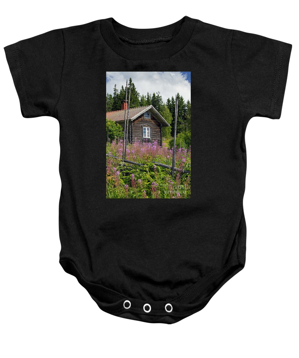 Fryksas Baby Onesie featuring the photograph 130201p102 by Arterra Picture Library