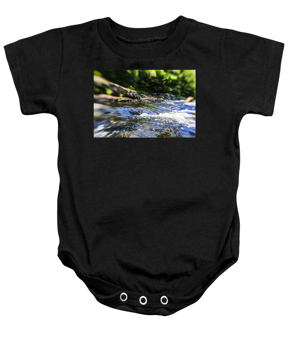 Water Baby Onesie featuring the photograph The Stream In Mountain by Alex Potemkin