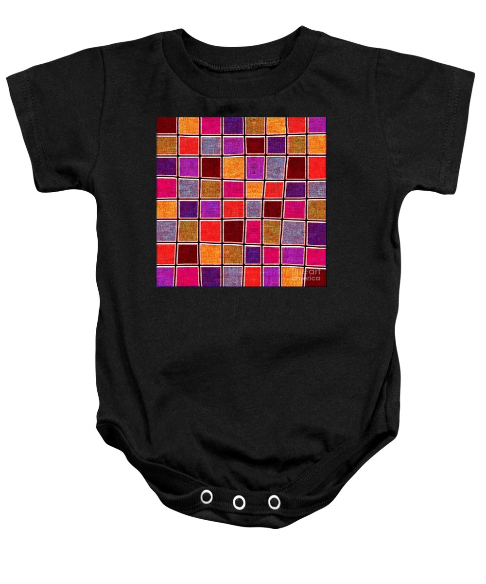 Abstract Baby Onesie featuring the digital art 1535 Abstract Thought by Chowdary V Arikatla