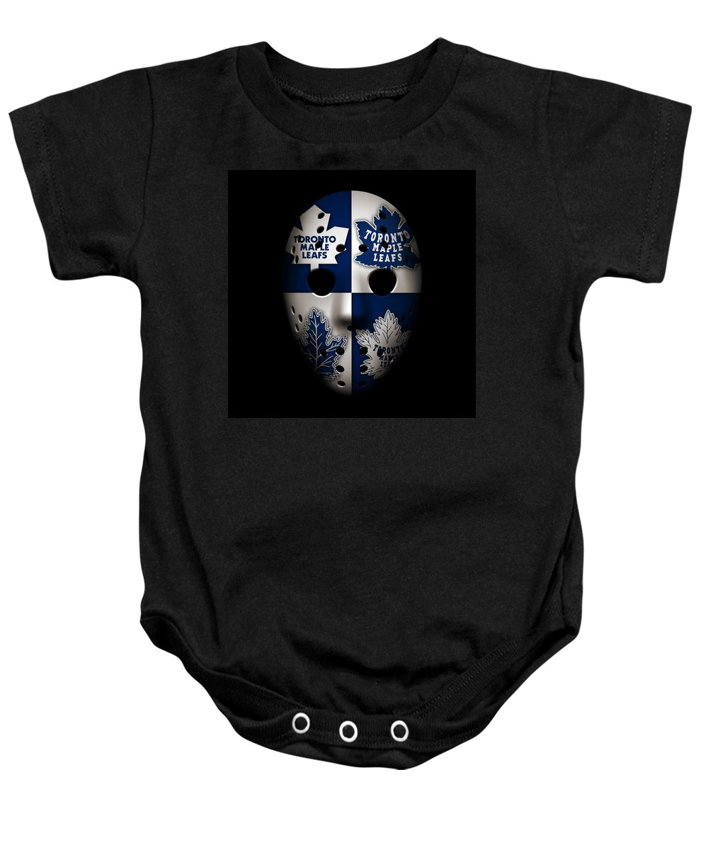 Maple Leafs Baby Onesie featuring the photograph Toronto Maple Leafs by Joe Hamilton