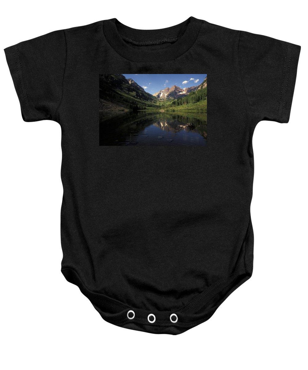 Alpine Baby Onesie featuring the photograph Colorado Rockies by Scott Warren