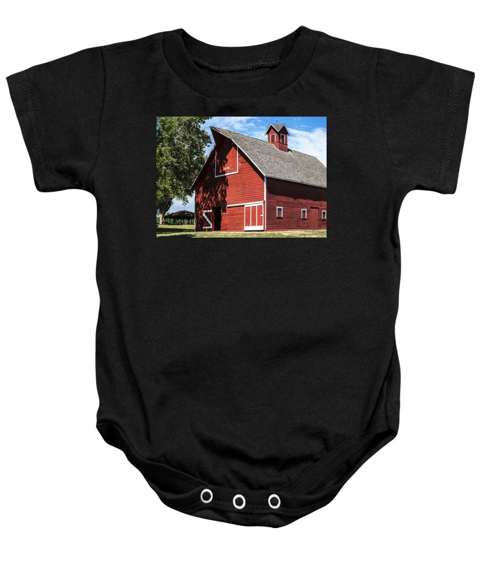 Barns Baby Onesie featuring the photograph 1896 Barn by Edward Peterson