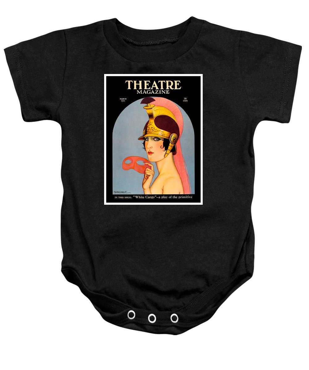 1924 Baby Onesie featuring the digital art 1924 - Theatre Magazine Cover - Color by John Madison