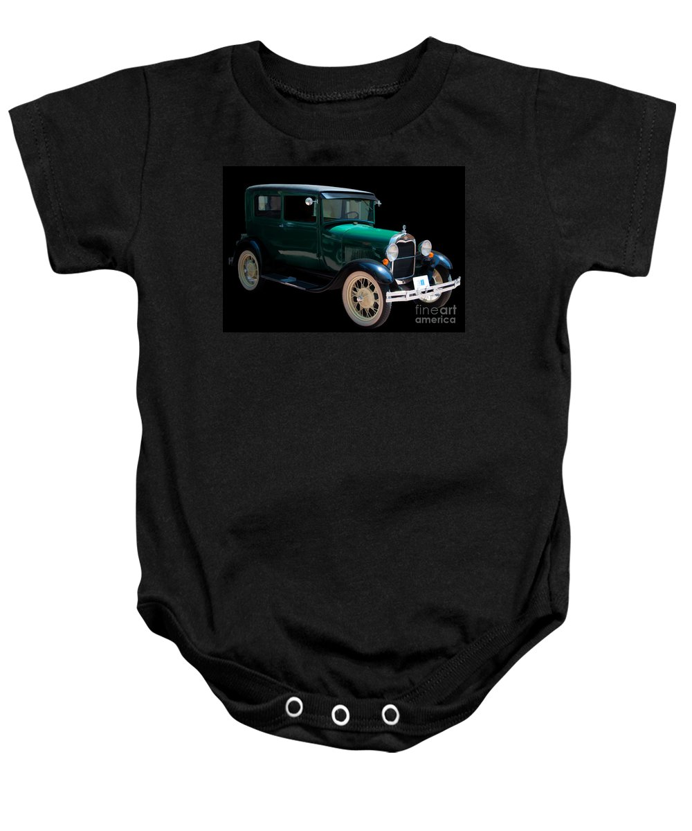 1929 Baby Onesie featuring the photograph 1929 Ford Roadster by Bianca Nadeau