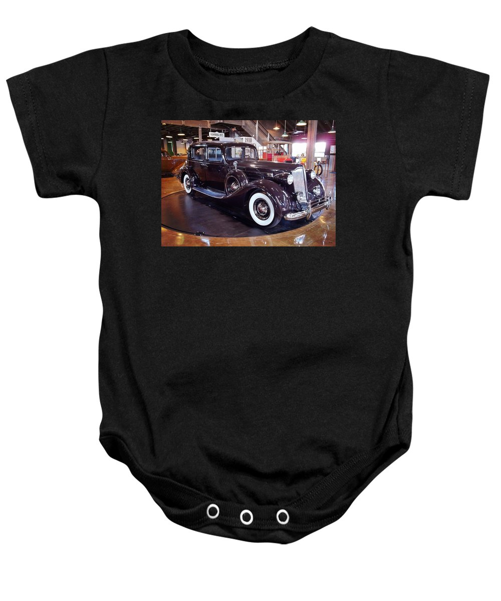 1937 Packard Baby Onesie featuring the photograph 1937 Packard by Glenn McCarthy Art and Photography