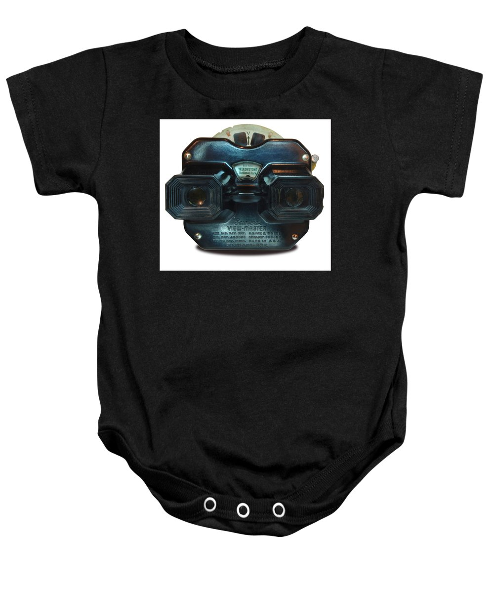 Stereoscopic Sightseeing Baby Onesie featuring the photograph 1940's View Master Stereoscopic Viewer by Ron Brown Photography