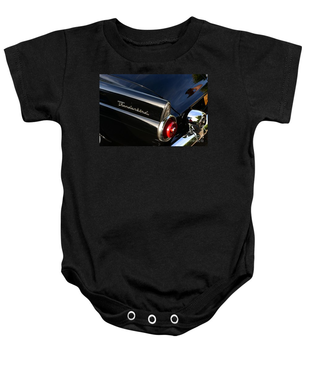 Paul Ward Baby Onesie featuring the photograph 1955 Ford Thunderbird by Paul Ward
