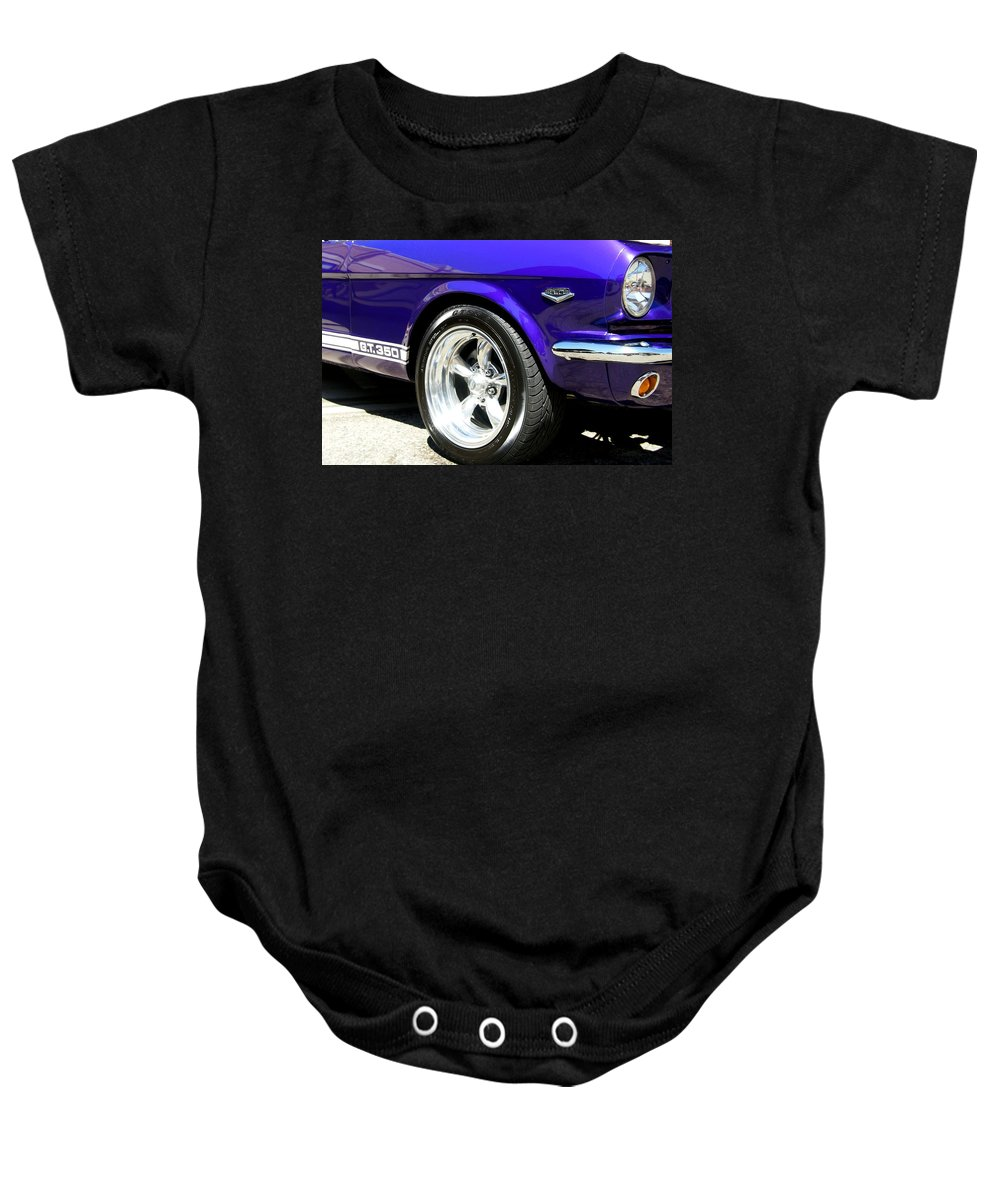 Car Baby Onesie featuring the photograph 1965 Ford Mustang Gt350 Muscle Car by Amy McDaniel