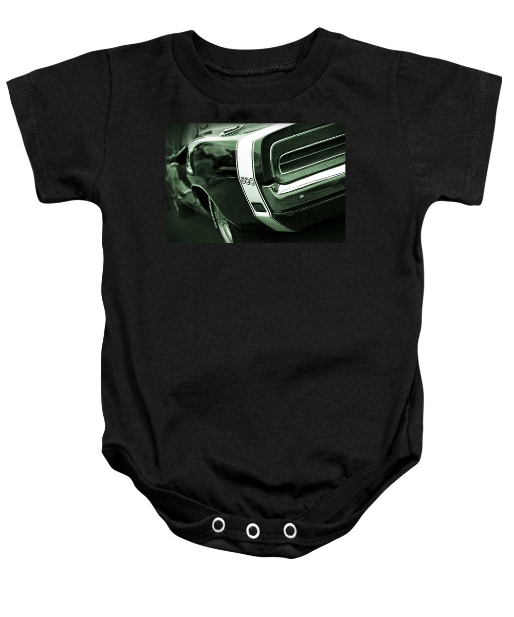 1968 Baby Onesie featuring the photograph 1969 Dodge Charger 500 by Gordon Dean II