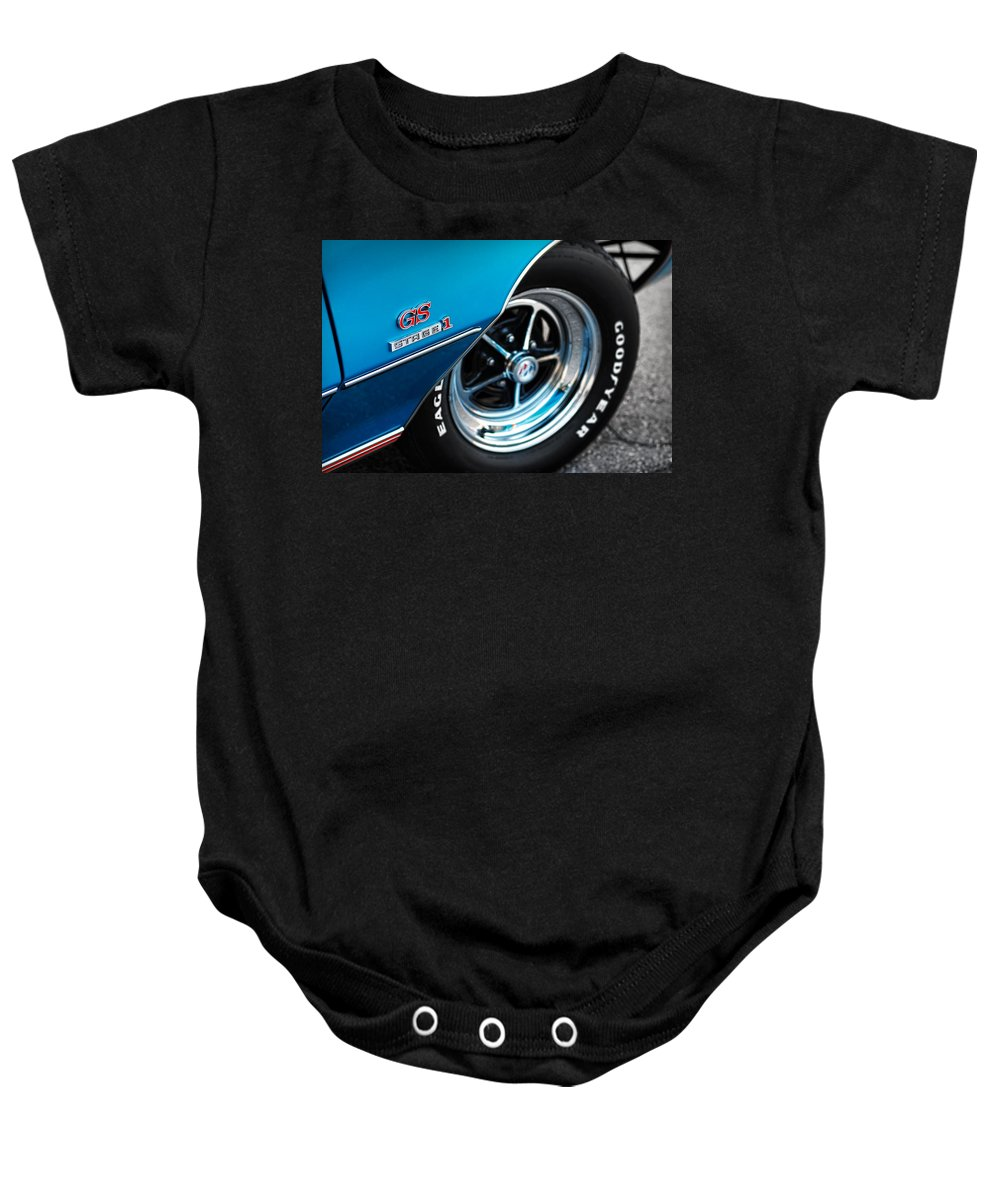 1971 Baby Onesie featuring the photograph 1971 Buick Gs Stage 1 by Gordon Dean II