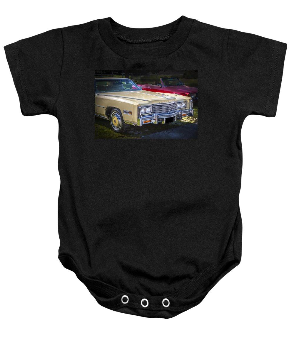 1978 Cadillac Baby Onesie featuring the photograph 1978 Cadillac Eldorado by Rich Franco