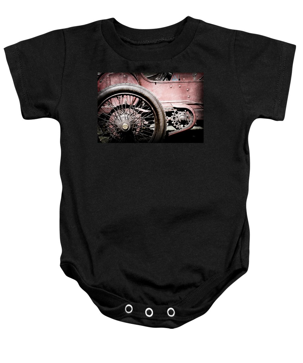 1913 Isotta Fraschini Tipo Im Wheel Baby Onesie featuring the photograph 1913 Isotta Fraschini Tipo Im Wheel by Jill Reger