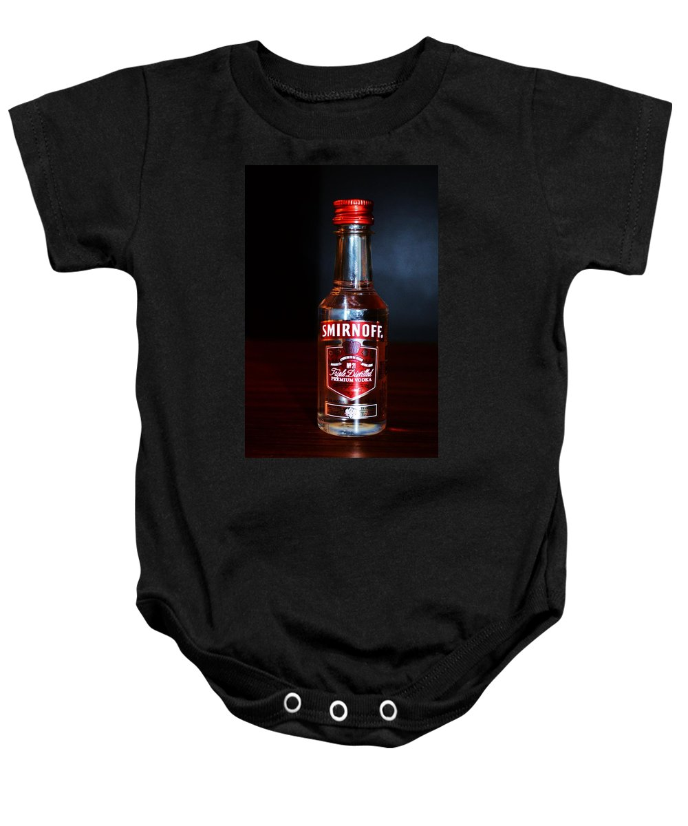 Alcohol Baby Onesie featuring the photograph Bar by Snowflake Obsidian